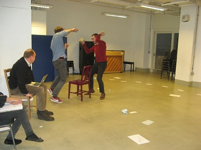 Rehearsals for 'Tell Me The Truth About Love', with Matt Coulton as Benjamin Britten and Stewart Clegg as Peter Pears